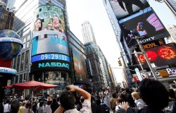 Facebook (FB) prepares to begin trading at the Nasdaq in New York City