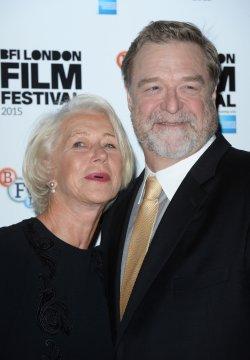 Helen Mirren and John Goodman attend the 'Trumbo' Photocall in London