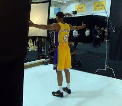 Jordan Clarkson participates in Lakers media day