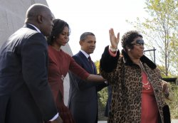 US President Barack Obama attends dedication of the Martin Luther King Memorial in Washington