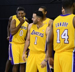 Los Angeles Lakers participate in media day in El Segundo, California