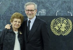 Steven Spielberg speaks at the United Nations