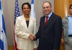 CONDOLEEZZA RICE MEETS ISRAELI LEADERS