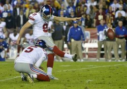 Washington Redskins vs New York Giants in Landover, Maryland
