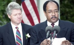 U.S. President Bill Clinton appoints William Gray as special advisor on Haiti in Washington