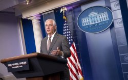 Secretary of State Rex Tillerson speaks at the White House Daily Briefing in Washington, D.C.