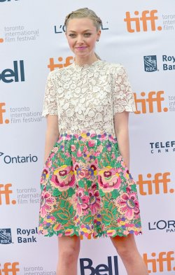 Amanda Seyfried attends 'While We're Young' premiere at the Toronto International Film Festival