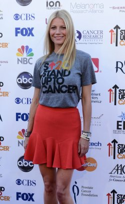 Gwyneth Paltrow attends the Stand Up To Cancer televised fundraiser in Los Angeles