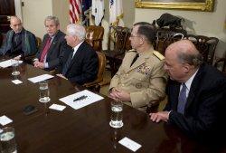 President Bush meets with Hamad Karzai in Washington