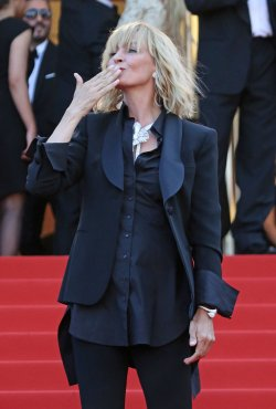 Uma Thurman attends the Cannes Film Festival