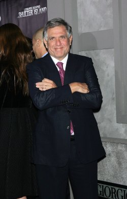 "Les Moonves arrives for the Premiere of ""Shutter Island"" in New York"