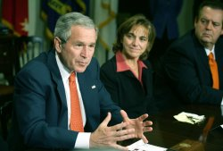 BUSH ATTENDS IMMIGRATION REFORM MEETING