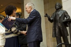 The statue of Frederick Douglass is unveiled in Washington