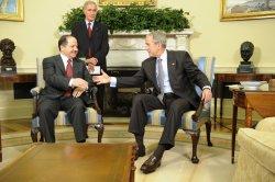U.S. President Bush meets Kurdish President Barzani in Washington