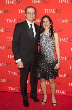 Preet Bharara and Dalya Bharara arrive at the TIME 100 Gala in New York