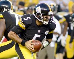 Pittsburgh Steelers quarterback Bruce Gradkowski in Pittsburgh