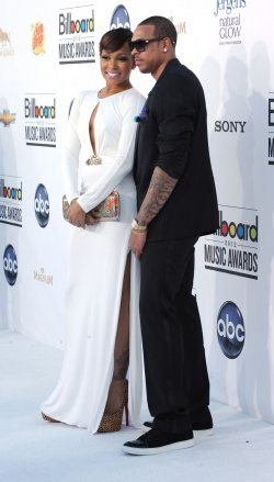 Singer Monica (L) and Shannon Brown (R) arrive at the 2012 Billboard Music Awards in Las Vegas, Nevada