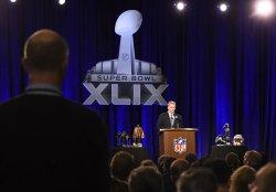 NFL Commissioner Roger Goodell Super Bowl XLIX Press Conference in Phoenix, Arizona