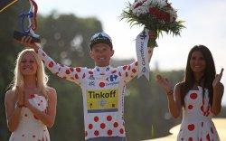 Rafal Majka wins best climber at the Tour de France in Paris