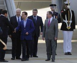 Russian PM Medvedev departs Washington for G-8 Summit at Camp David