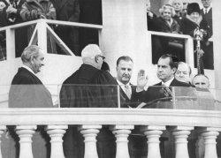 President Nixon sworn in as 37th President of the USA