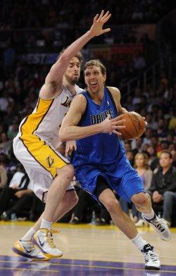 Los Angeles Lakers play Dallas Mavericks in Los Angeles