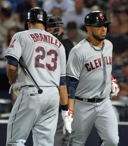 The Atlanta Braves play the Cleveland Indians in Atlanta