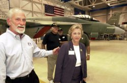 Mo. Senator Carnahan tours Boeing plant