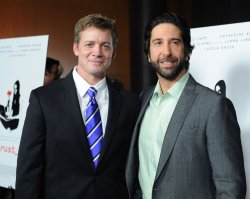 """David Schwimmer and Chris Henry Coffey attend the premiere of """"Trust"""" in Los Angeles"""