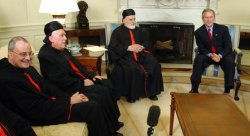 PRESIDENT BUSH MEETS WITH LEBANESE PATRIARCH SFEIR