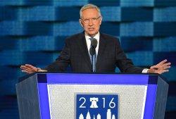 Sen. Harry Reid addresses delegates at the DNC convention in Philadelphia