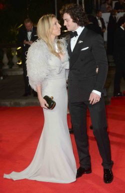 "Aaron Johnson and Sam Taylor-Wood attend The Royal World Premiere of ""Skyfall"" in London"