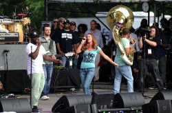 Joss Stone performs at the Climate Rally Earth Day Concert in Washington