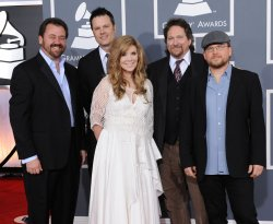 Alison Krauss and Union Station arrive at the 54th annual Grammy Awards in Los Angeles