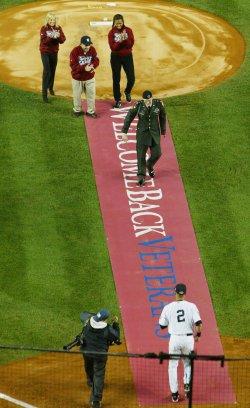 New York Yankees Philadelphia Phillies in game 1 of the World Series at Yankee Stadium in New York