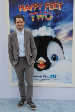 "Elijah Wood attends the ""Happy Feet Two"" premiere in Los Angeles"