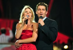 Matthew Morrison and Kelli O'Hara perform during a rehearsal for A Capitol Fourth concert in Washington