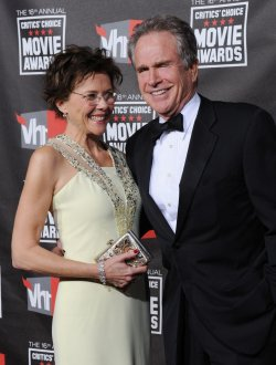 Annette Bening and Warren Beatty arrive at the 16th annual Critics' Choice Awards in Los Angeles