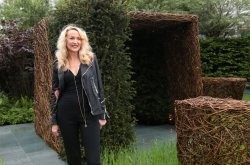 Jerry Hall at Chelsea Flower Show 2013