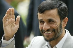 AHMADINEJAD IN DEPARTURE CEREMONY