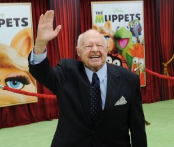 "Mickey Rooney attends ""The Muppets"" premiere in Los Angeles"