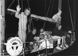 Sen. Robert Kennedy goes on a cruise with wife Ethel and friends