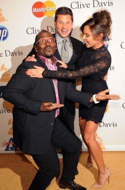 Randy Jackson, Vanessa Minnillo and Nick Lachey arrive at pre-Grammy gala honoring David Geffen in Beverly Hills, California