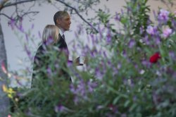 President Obama Departs The White House For Camp David