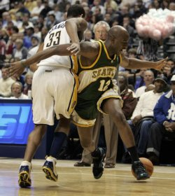 SEATTLE SUPERSONICS VS INDIANA PACERS
