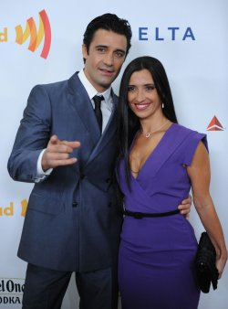 Gilles Marini and his wife Carole attend the 23rd annual GLAAD Media Awards in Los Angeles