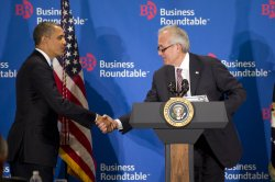 President Obama meets with the Business Roundtable in Washington