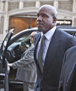 Barry Bonds arrives for sentencing in San Francisco
