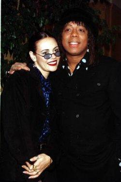 Singer Rick James and his longtime companion Tanya Hijazi