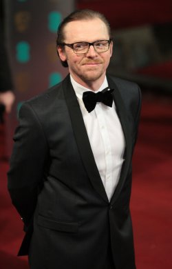 Simon Pegg arrives at the Baftas Awards Ceremony
